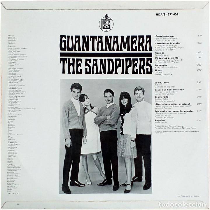 Discos de vinilo: The Sandpipers - Guantanemera - Lp Spain 1966 - A&M Records HDA 371-04 - Foto 2 - 225825440