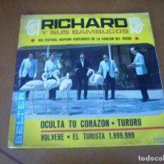 Discos de vinilo: EP : RICHARD Y SUS BAMBUCOS / EL TURISTA 1.999.999 + 3 ED SPAIN 1967. Lote 225830095