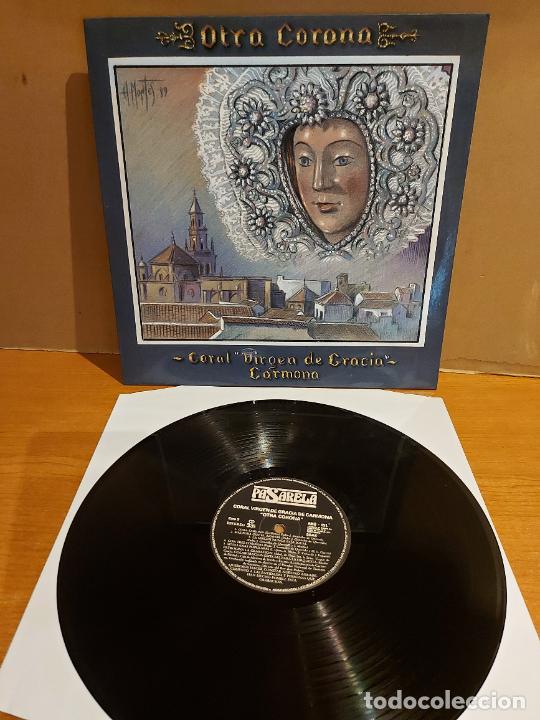CORAL VIRGEN DE GRACIA DE CARMONA / OTRA CORONA / LP - PASARELA-1989 / MBC. ***/*** DIFÍCIL !! (Música - Discos - LP Vinilo - Flamenco, Canción española y Cuplé)