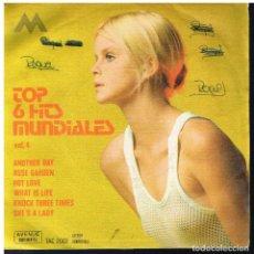 Discos de vinilo: TOP 6 HITS MUNDIALES - EP 1971. Lote 225843000