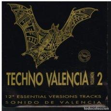 Discos de vinilo: TECHNO VALENCIA VOL. 2 - 12 ESSENTIAL VERSIONS TRACKS. SONIDO VALENCIA - SINGLE 1992. Lote 225848860