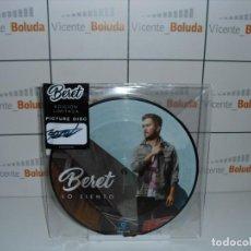 Discos de vinilo: BERET - LO SIENTO/TE ECHO DE MENOS (VINILO SINGLE) PICTURE DISC - EDICIÓN FIRMADA NUEVO ENVIÓ ES 2 €. Lote 225874305