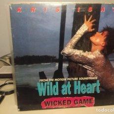 Discos de vinilo: MAXI KRIS ISAK WICKED GAME ( WILD AT HEART) TEMA DE LA PELICULA CORAZON SALVAJE. Lote 225879770