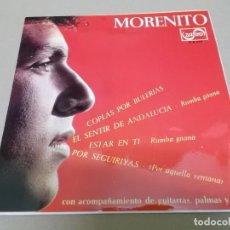 Discos de vinilo: MORENITO (EP) EL SENTIR DE ANDALUCIA AÑO 1966. Lote 225885535