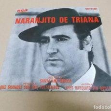 Discos de vinilo: NARANJITO DE TRIANA (EP) QUE GRANDES SON MIS TORMENTOS AÑO 1968. Lote 225885901