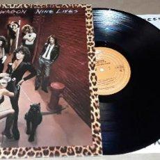 Discos de vinilo: LP - REO SPEEDWAGON - NINE LIVES - MADE IN ENGLAND. Lote 225886405