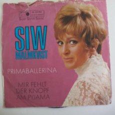 Disques de vinyle: SWIN. MALMKVIST. PRIMABALLERINA. MIR FEHLT DER KNOPF AM PYJAMA. M 25150 METRONOME. 1969. SINGLE. Lote 225900870