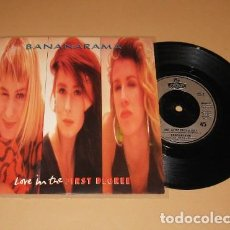 Discos de vinilo: BANANARAMA - LOVE IN THE FIRST DEGREE - SINGLE - 1987. Lote 225902053