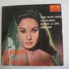 Discos de vinilo: MARIFE DE TRIANA. TENGO MIEDO TORERO, TUS PALABRAS. SCGE 81022. COLUMBIA. EP. 1965. Lote 225902730