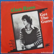 Discos de vinilo: SINGLE / ALAN ROSS / GET THE GUNS - WHAT YOU GONNA DO ABOUT IT? / RCA - EBONY EYE-12 / 1978 HOLANDA. Lote 225958700