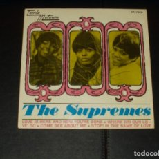 Discos de vinilo: SUPREMES EP LOVE IS HERE AND NOW YOU'RE GONE+3. Lote 225961117