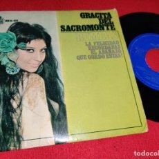 Discos de vinilo: GRACITA DEL SACROMONTE LA FELICIDAD/QUE GORDO ESTAS! +2 EP 1967 HISPAVOX RUMBAS !. Lote 225969176