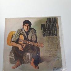 Discos de vinilo: JOAN MANUEL SERRAT - CANÇO DE MATINADA/PARAULES D'AMOR/LES SABATES/MEN VAIG A PEUGEOT, EDIGSA 1966.. Lote 225970280