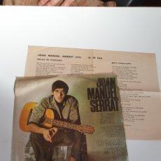 Discos de vinilo: JOAN MANUEL SERRAT - CANÇO DE MATINADA/PARAULES D'AMOR/LES SABATES/MEN VAIG A PEU, EDIGSA 1966.. Lote 225971735