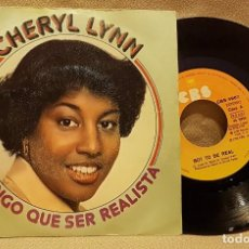 Discos de vinilo: CHERYL LYNN - TENGO QUE SER REALISTA - GOT TO BE REAL. Lote 225973295