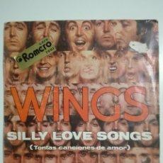 """Discos de vinilo: VINILO 7"""" SINGLE WINGS SILLY LOVE SONGS (THE BEATLES PAUL MCCARTNEY) - 1976 - 55G. Lote 225977680"""