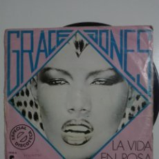 "Discos de vinilo: VINILO 7"" SINGLE GRACE JONES I NEED A MAN / LA VIDA EN ROSA (LA VIE EN ROSE) - 1977 - 60G. Lote 225987810"