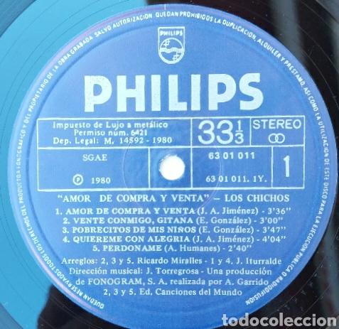 Discos de vinilo: Lp Los Chicos- amor de compra y venta/Philips - 1980 - Foto 3 - 225991861