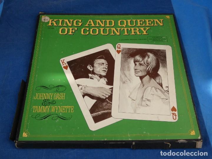 LOCH01 4 LP COUNTRY DE LA EPOCA CAJA CASH & TAMMY WYNETTE KING & QUEEN OF COUNTRY ACEPTABLE 1969 (Música - Discos - LP Vinilo - Pop - Rock - Extranjero de los 70)