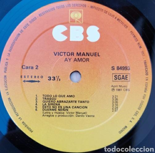 Discos de vinilo: Lp Victor Manuel- Ay amor/1976/CBS - Foto 3 - 225993065