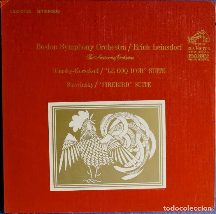 ORQUESTA BOSTON SYMPHONY - SUITE DE LA ÓPERA EL GALLO DE ORO Y SUITE DE EL PÁJARO DE FUEGO.. (Música - Discos - LP Vinilo - Clásica, Ópera, Zarzuela y Marchas)