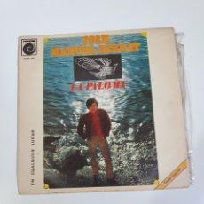 Discos de vinilo: JOAN MANUEL SERRAT - LA PALOMA / EN CUALQUIER LUGAR, NOVOLA 1969.. Lote 226003351