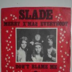 "Discos de vinilo: VINILO 7"" SINGLE SLADE MERRY XMAS EVERYBODY / DON'T BLAME ME - EDICION RARA 1973 CHRISTMAS - 55G. Lote 226008400"