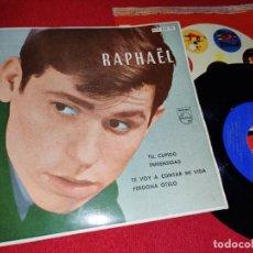 Discos de vinil: RAPHAEL TU CUPIDO/INMENSIDAD/TE VOY A CONTAR MI VIDA/PERDONA OTELO EP 7'' 1962 PHILIPS. Lote 226036940