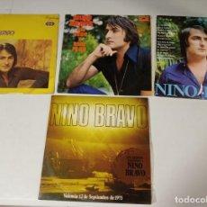 Discos de vinilo: NINO BRAVO - LOTE DE 4 LP UNO DOBLE (Nº1). Lote 226039230