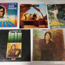 Discos de vinilo: NINO BRAVO - LOTE DE 5 LP (Nº2). Lote 226039466