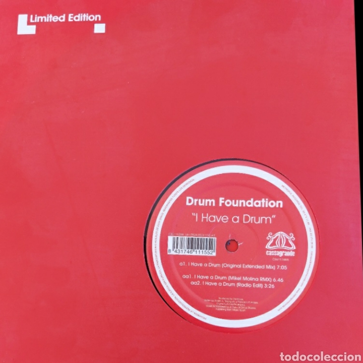 Discos de vinilo: Maxi single Drum foundation - I have a drum - Edic. Limitada - Foto 3 - 226073387