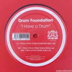 Discos de vinilo: MAXI SINGLE DRUM FOUNDATION - I HAVE A DRUM - EDIC. LIMITADA. Lote 226073387