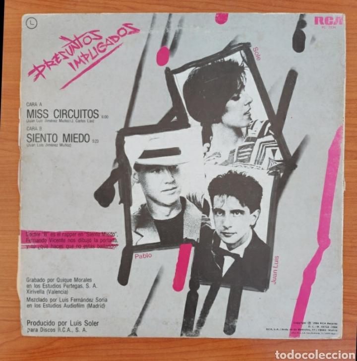 Discos de vinilo: Maxi single Presuntos implicados- Miss circuitos - 1984-RCA/España - Foto 2 - 226078170