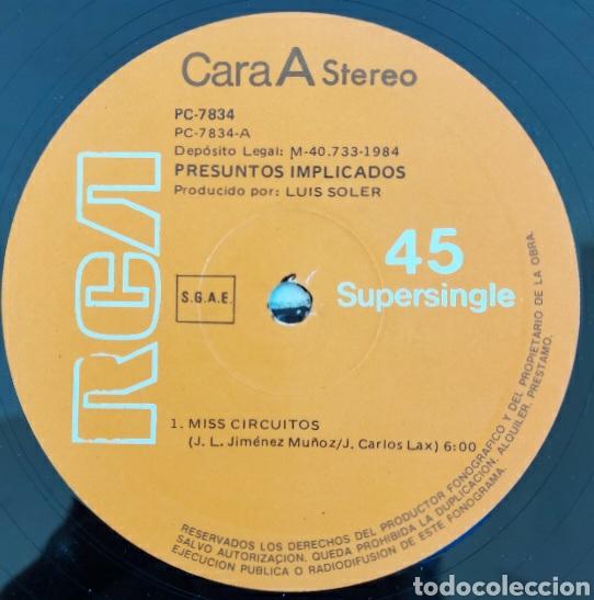 Discos de vinilo: Maxi single Presuntos implicados- Miss circuitos - 1984-RCA/España - Foto 3 - 226078170