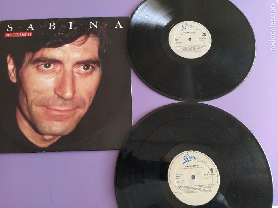 DIFICIL DOBLE LP 1990.JOAQUIN SABINA:MUCHO SABINA.CALLE MELANCOLIA/PONGA Q HABLO DE MADRID/EH,SABINA (Música - Discos - LP Vinilo - Cantautores Españoles)