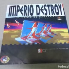 Discos de vinilo: IMPERIO DESTROY (SINGLE) BARRACA DESTRUCTION AÑO 1993 - PROMOCIONAL. Lote 226099215