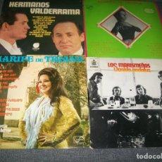 Dischi in vinile: LOTE DE 4 LP´S DE FLAMENCO, LOS MARISMEÑOS, MARIFE DE TRIANA HERMANOS VALDERRAMA Y IMPERIO DE TRIANA. Lote 226102095