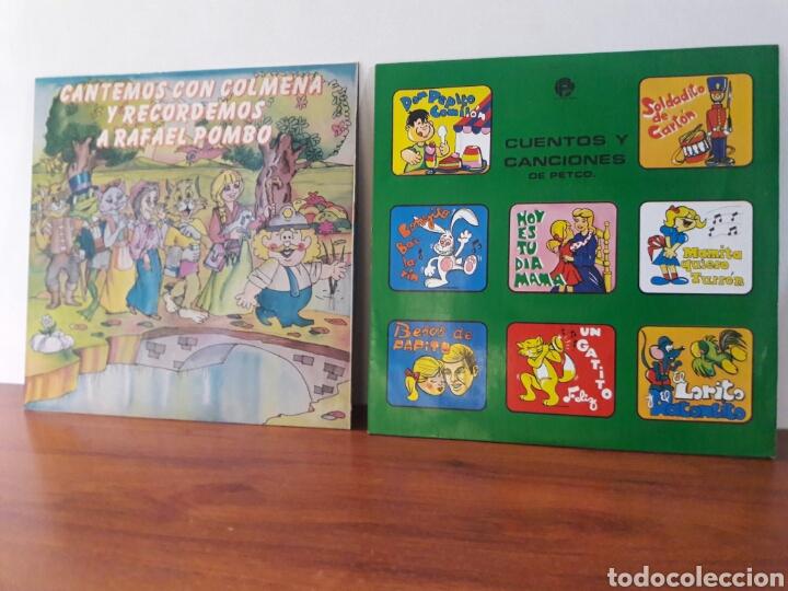 DOS LPS CUENTOS DE RAFAEL POMBO Y MAS LP VINILO ANTIGUO 1981 COLOMBIA SUPER RAREZA VG+ (Música - Discos - LP Vinilo - Otros estilos)