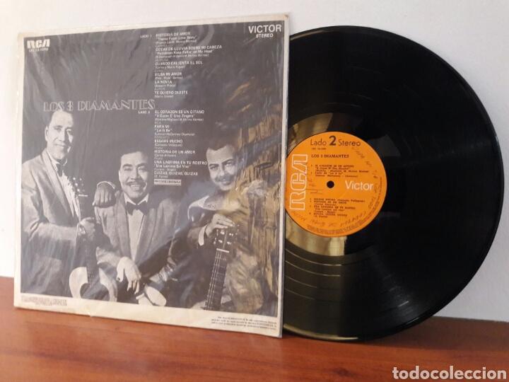 Discos de vinilo: LP LOS 3 TRES DIAMANTES EL CORAZON ES UN GITANO HISTORIA DE AMOR RAREZA VG+ - Foto 2 - 226123887