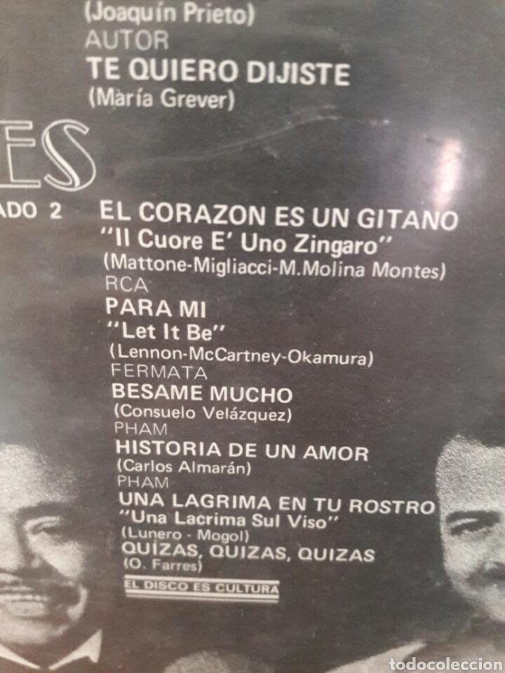 Discos de vinilo: LP LOS 3 TRES DIAMANTES EL CORAZON ES UN GITANO HISTORIA DE AMOR RAREZA VG+ - Foto 4 - 226123887