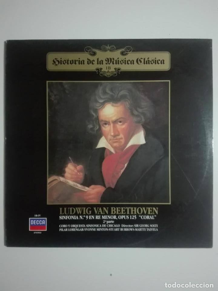 """VINILO 12"""" LP LUDWING VAN BEETHOVEN SINFONIA Nº 9 EN RE MENOR, OPUS 125 """"CORAL"""" PARTE 2 1983 - 200G (Música - Discos - LP Vinilo - Clásica, Ópera, Zarzuela y Marchas)"""