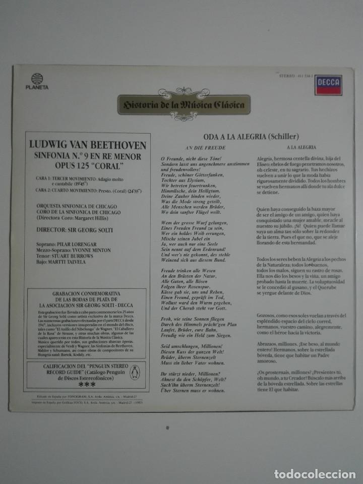 "Discos de vinilo: VINILO 12"" LP LUDWING VAN BEETHOVEN SINFONIA Nº 9 EN RE MENOR, OPUS 125 ""CORAL"" PARTE 2 1983 - 200g - Foto 3 - 226125105"