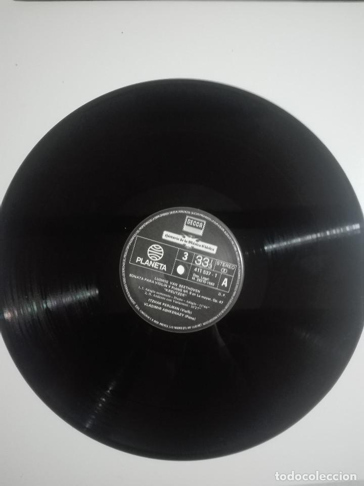 """Discos de vinilo: VINILO 12"""" LP LUDWING VAN BEETHOVEN SONATA PARA VIOLIN Y PIANO Nº 9 Y Nº5 - 1983 - 200g - Foto 2 - 226125935"""