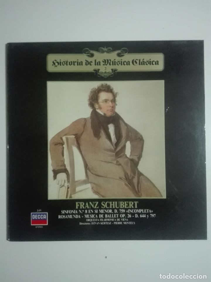 "VINILO 12"" LP FRANZ SHUBERT SINFONIA Nº 8 EN SI MENOR Y ROSAMUNDA DE BALET - 1983 - 200G (Música - Discos - LP Vinilo - Clásica, Ópera, Zarzuela y Marchas)"