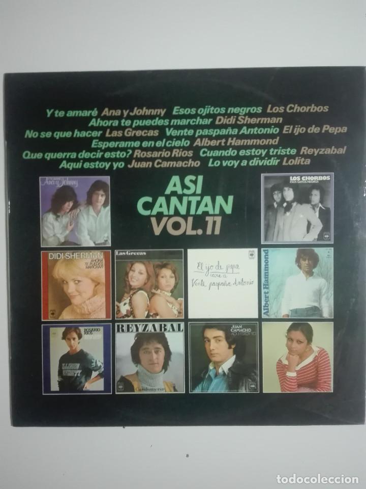 """VINILO 12"""" LP ASI CANTAN VOL. 11 LOLITA LOS CHORBOS LAS GRECAS DIDI SHERMAN - 1977 - 230G (Música - Discos - LP Vinilo - Otros estilos)"""
