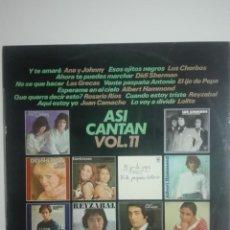"""Discos de vinilo: VINILO 12"""" LP ASI CANTAN VOL. 11 LOLITA LOS CHORBOS LAS GRECAS DIDI SHERMAN - 1977 - 230G. Lote 226130380"""