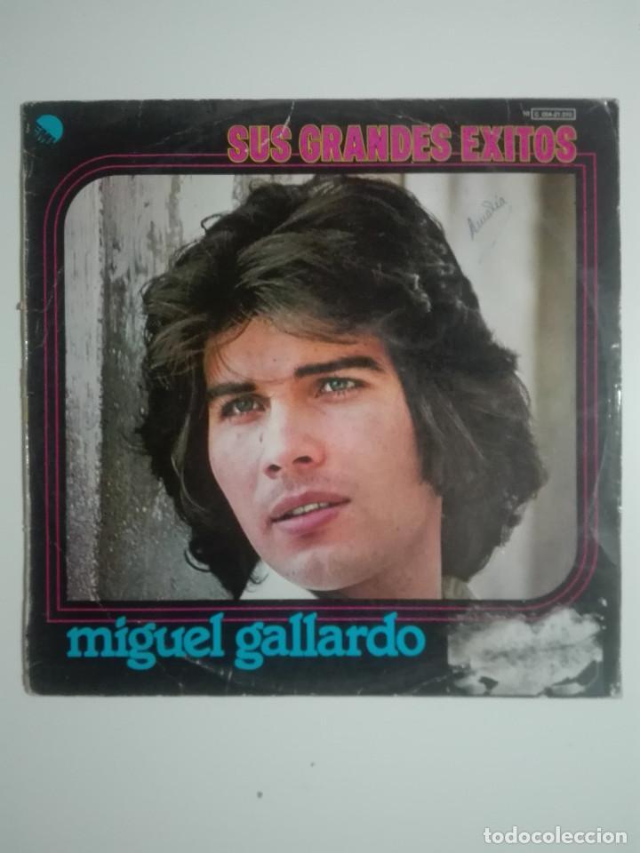 """VINILO 12"""" LP MIGUEL GALLARDO SUS GRANDES EXITOS - 1976 - 220G (Música - Discos - LP Vinilo - Solistas Españoles de los 70 a la actualidad)"""