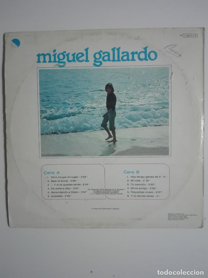 """Discos de vinilo: VINILO 12"""" LP MIGUEL GALLARDO SUS GRANDES EXITOS - 1976 - 220g - Foto 3 - 226135055"""