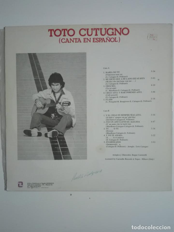 """Discos de vinilo: VINILO 12"""" LP TOTO CUTUGNO ENAMORADOS (CANTA EN ESPAÑOL) - 1982 - 220g - Foto 3 - 226135585"""