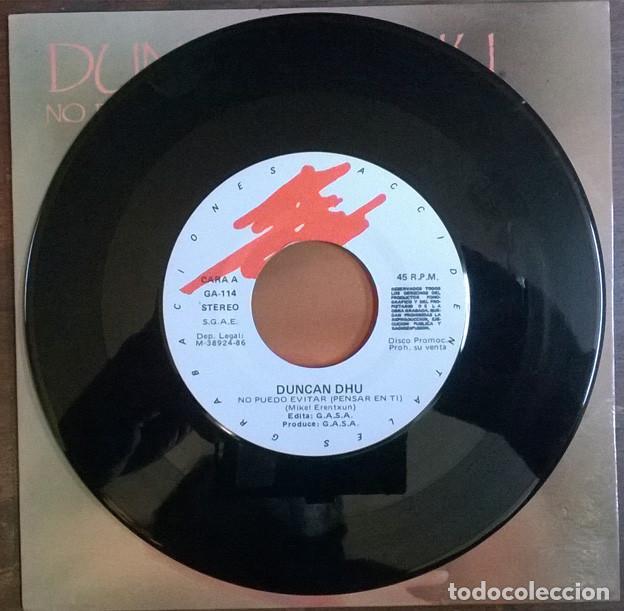 Discos de vinilo: Duncan Dhu. No puedo evitar pensar en ti/ Fantasmas. Grabaciones Accidentales, Spain 1986 single - Foto 3 - 226141600